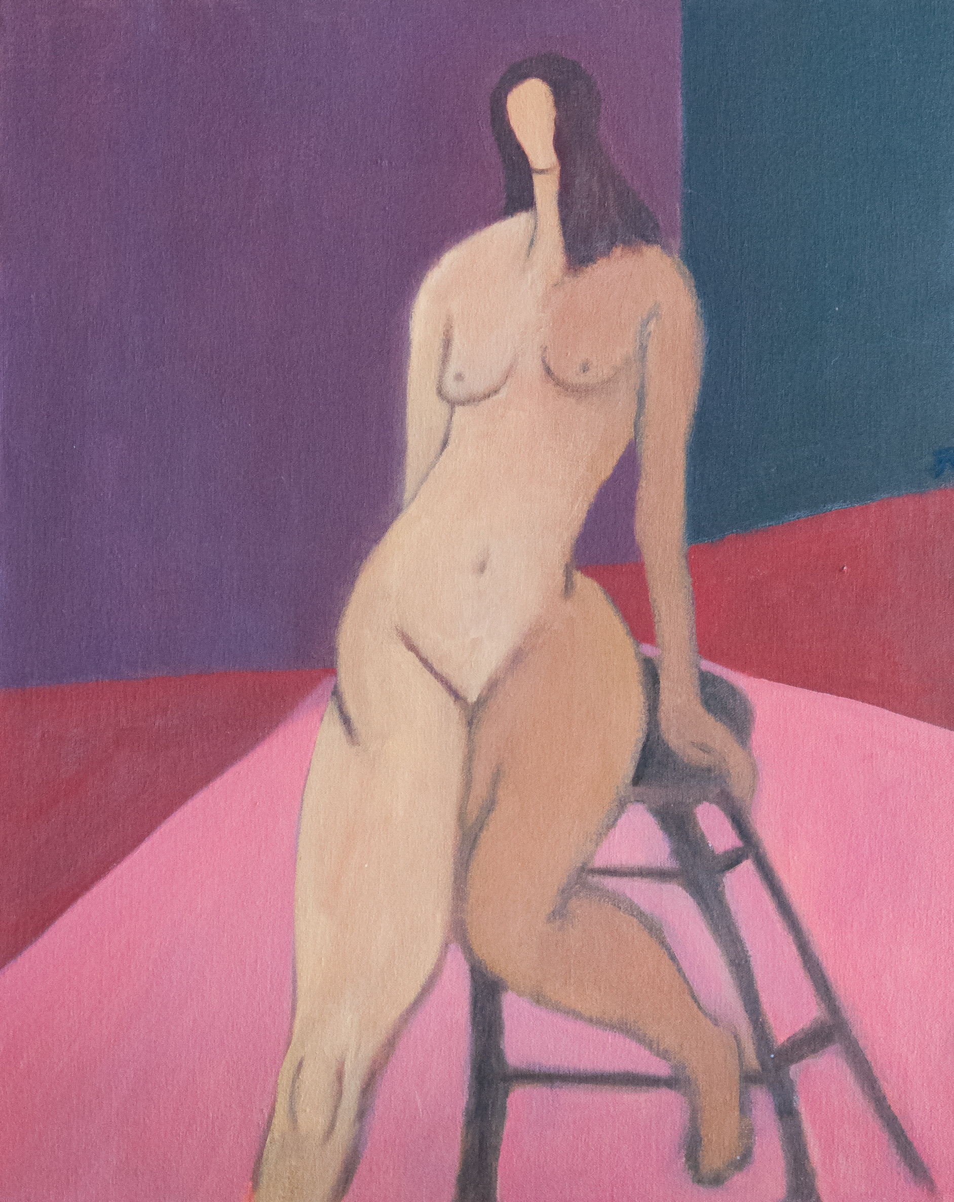 Nude Model Painting by Jerry Cantwell