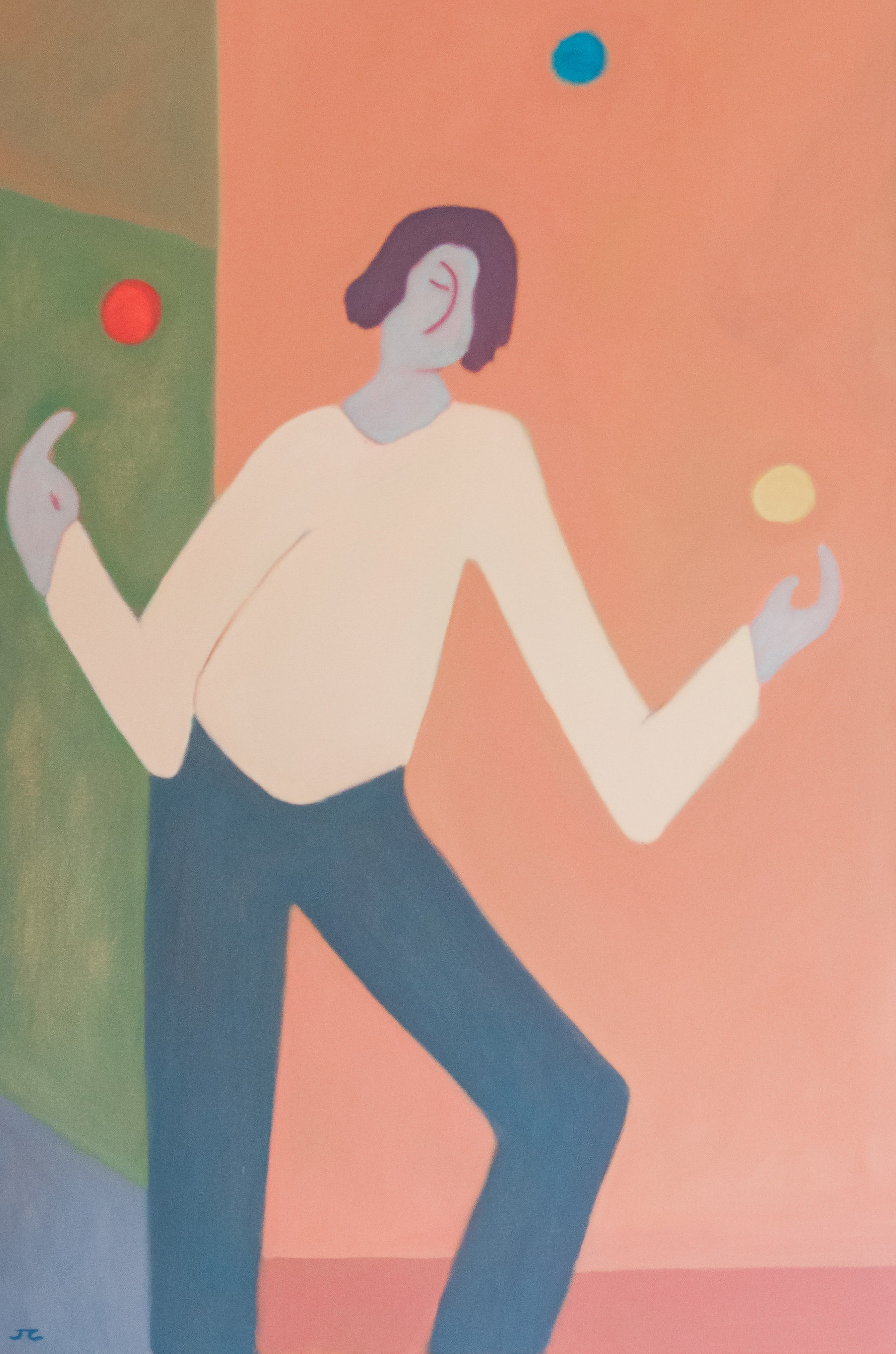 The Juggler Painting by Jerry Cantwell